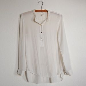 H&M White Buttoned Shirt size 2